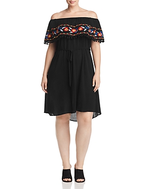 New Estelle Bahama Breeze Off-the-Shoulder Dress - 100% Exclusive, Black