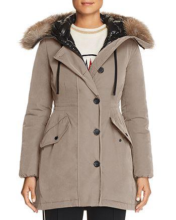 Moncler Monticole Fur Trim Down Coat | Bloomingdale's