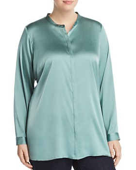 Eileen Fisher Plus - Stand Collar Blouse