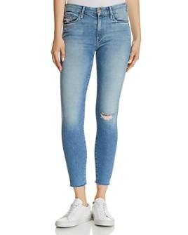 MOTHER - Looker Ankle Fray Skinny Jeans in Love Gun
