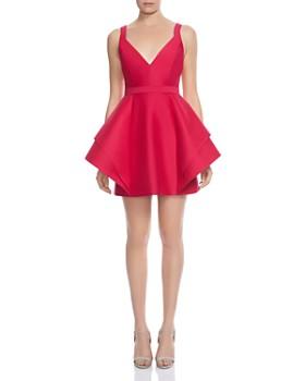 HALSTON HERITAGE - Structured Mini Dress