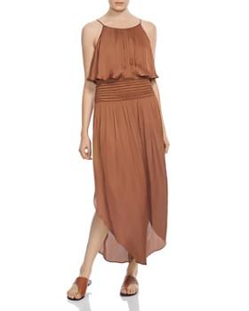 HALSTON HERITAGE - Smocked-Waist Maxi Dress
