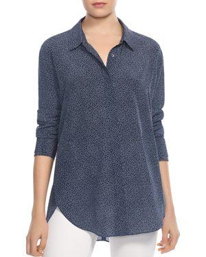 Halston Heritage Printed Silk Shirt