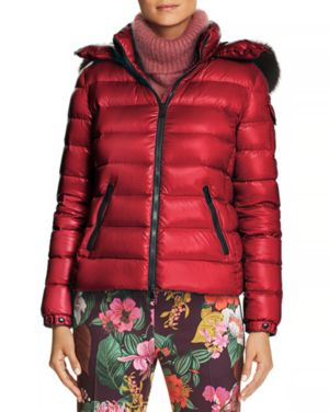 Bady Fur Jacket in Dark Red