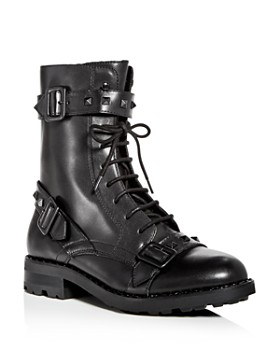 Ash - Women's Witch Studded Leather Moto Boots