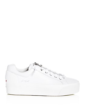 Ash - Women's Buzz Leather Platform Sneakers