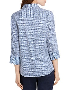 Foxcroft - Mary Dotted Button-Down Top