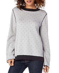 Michael Stars - Reversible Dotted Sweatshirt