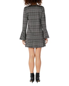 Michael Stars - Glen-Plaid Bell-Sleeve Dress
