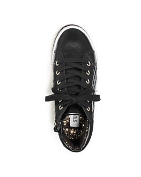STEVE MADDEN - Girls' Glitter-Sole High Top Sneakers - Little Kid, Big Kid