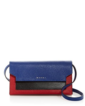 Marni Trunk Color Block Leather Convertible Crossbody