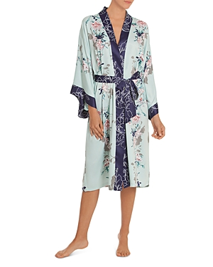 In Bloom By Jonquil IN BLOOM BY JONQUIL FLORAL KIMONO WRAP ROBE