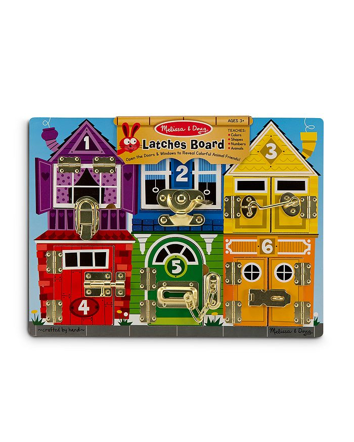 Melissa & Doug - Wooden Latches Board - Ages 3+