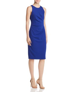 ADRIANNA PAPELL DRAPED CREPE DRESS