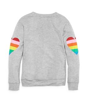 Flowers by Zoe - Girls' Rainbow Heart Terry Sweatshirt - Big Kid