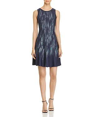 Nic and Zoe Lightening Streaks Fit-and-Flare Dress