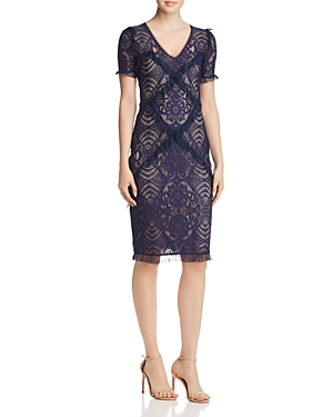 Bcbgmaxazria Ruffle-Trimmed Lace Dress