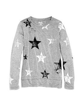 Flowers by Zoe - Girls' Distressed Star-Print Top - Little Kid