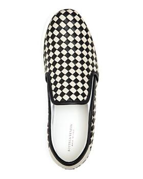 Bottega Veneta - Men's Woven Leather Slip-On Sneakers
