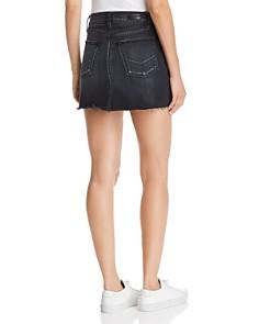 Hudson - Viper Pierced Denim Mini Skirt in Harrah