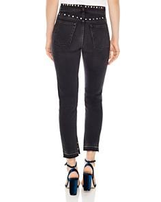 Sandro - Polygone Frayed Hem Grommeted Jeans