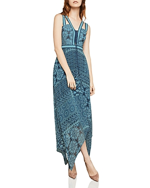 Bcbgmaxazria Tile Patchwork-Print Maxi Dress