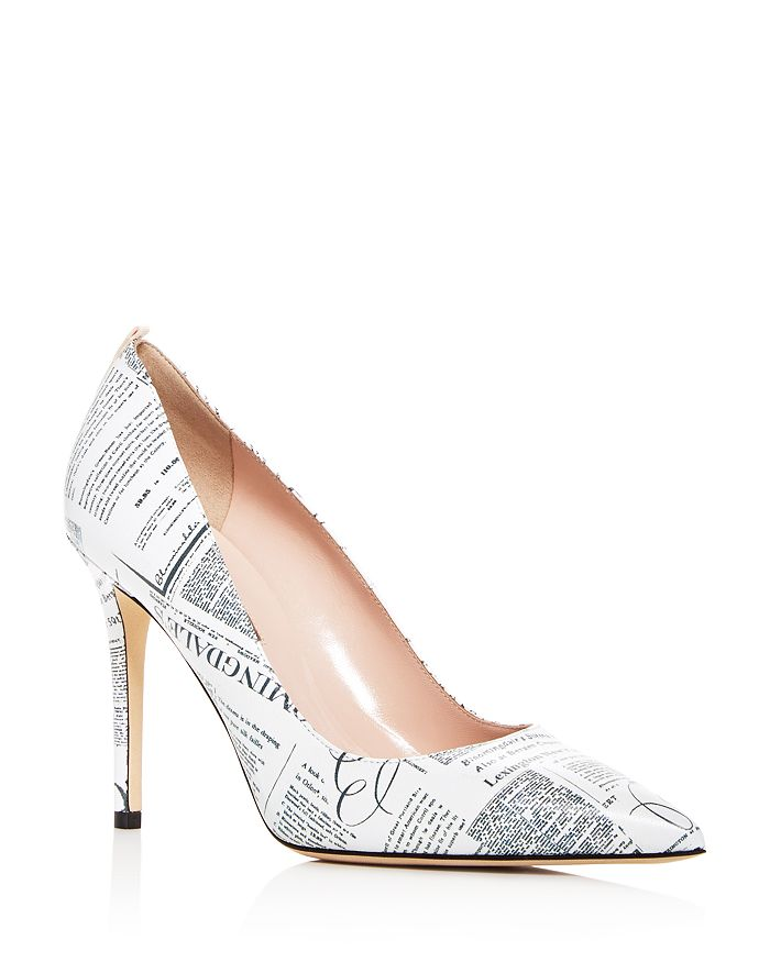 SJP by Sarah Jessica Parker - Women's Fawn Bloomingdale's Newsprint Leather Pumps - 100% Exclusive