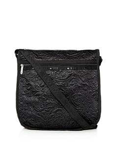 LeSportsac - Rebecca Large Floral-Embossed Hobo Messenger Bag