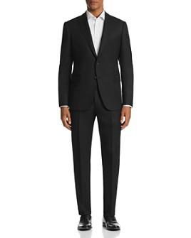 Armani - M-Line Tonal Crosshatch-Pattern Classic Fit Suit