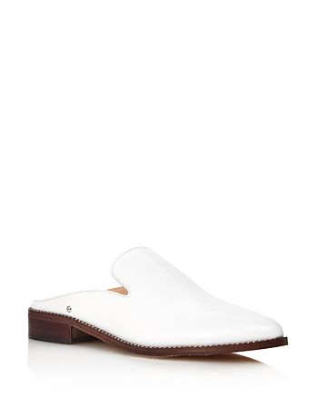 Sam Edelman - Women's Laddie Pointed Toe Slip-On Leather Mules