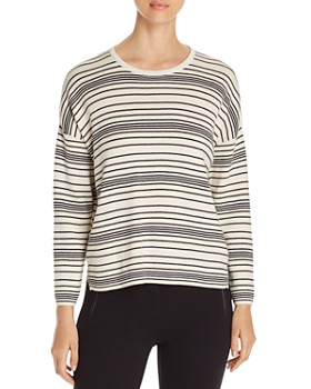 Eileen Fisher Petites - Striped Organic-Cotton Top