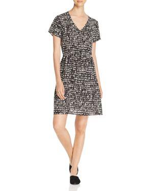 Eileen Fisher Petites Printed Silk Dress 2981999