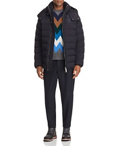 Moncler Mathieu Stretch Down Parka, Wool Sweater & Wool Pants - Bloomingdale's_0