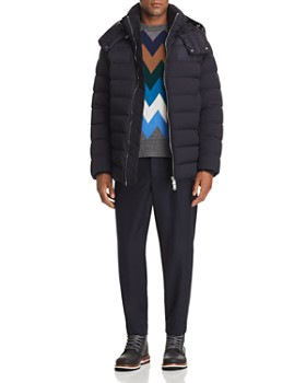 Moncler - Mathieu Stretch Down Parka, Wool Sweater & Wool Pants