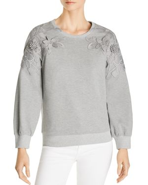 LE GALI SOMER EMBROIDERED APPLIQUE SWEATSHIRT - 100% EXCLUSIVE