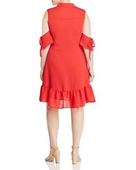 Lost Ink Plus - Cold-Shoulder Shirt Dress