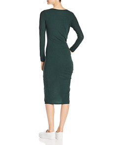 Three Dots - Ruched Knit Dress