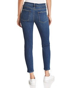 Current/Elliott - The Stiletto Cropped Skinny Jeans in 1 Year Worn Stretch Indigo