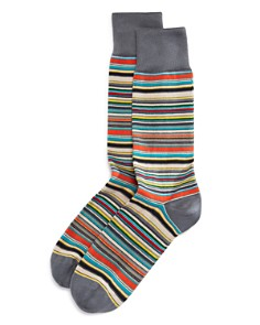Paul Smith Multicolored Stripe Socks - Bloomingdale's_0