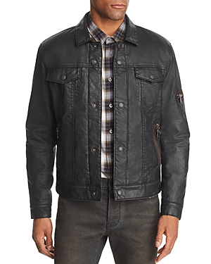 John Varvatos Star Usa Sherpa-Lined Coated Denim Jacket - 100% Exclusive
