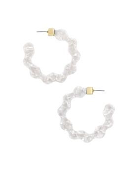 BAUBLEBAR - Deena Resin Waved Hoop Earrings