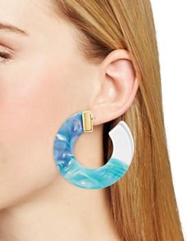 BAUBLEBAR - Dessa Multicolor Resin Hoop Earrings
