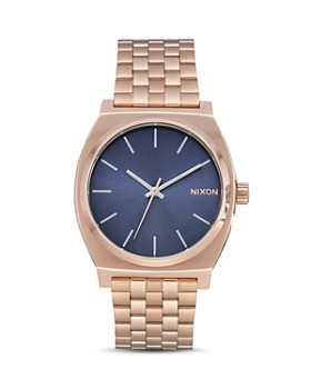 Nixon - The Time Teller Rose Gold-Tone Watch, 37mm