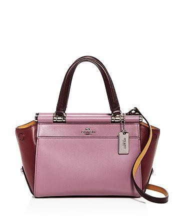 COACH - Grace Color-Block Leather Satchel