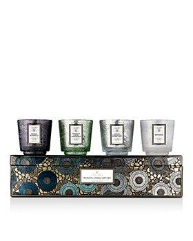 Voluspa - Cool Tones 4-Piece Pedestal Candles Gift Set