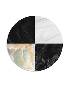 "Art Addiction Inc. - Quadrant Black/White Circle Wall Art, 15.75"" x 15.75"" - 100% Exclusive"