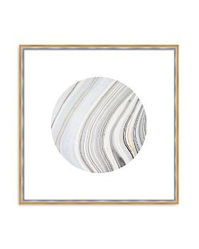 "Art Addiction Inc. - Beige/White Rock Swirl Circle #1 Wall Art, 24"" x 24"""