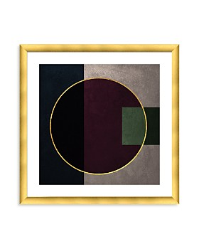 "Art Addiction Inc. - Gold Circle w/ Gold Frame Wall Art, 24"" x 24"" - 100% Exclusive"