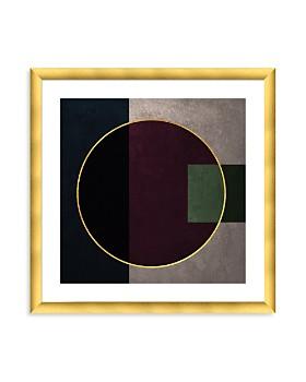 "Art Addiction Inc. - Gold Circle w/ Gold Frame Wall Art, 24"" x 24"" - 100% Exclusive"