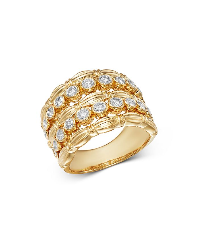 Bloomingdale's - Diamond Five-Row Statement Band in 14K Yellow Gold, 1.05 ct. t.w. - 100% Exclusive
